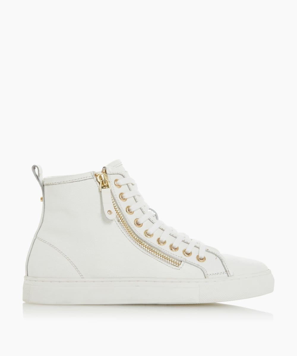 Zip Detail High Top Trainers