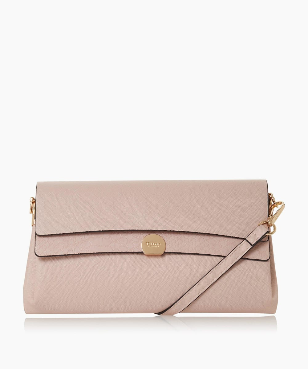Layered Flap Clutch Bag