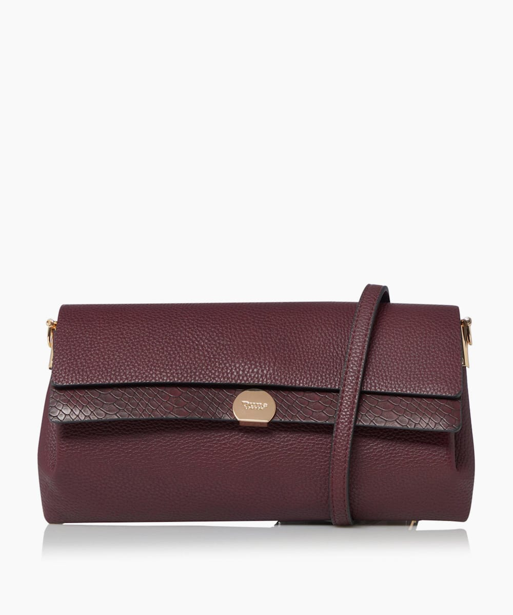 Layered Flap Clutch Bag