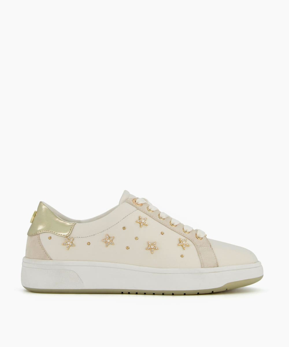 Star Stud Lace Up Trainers