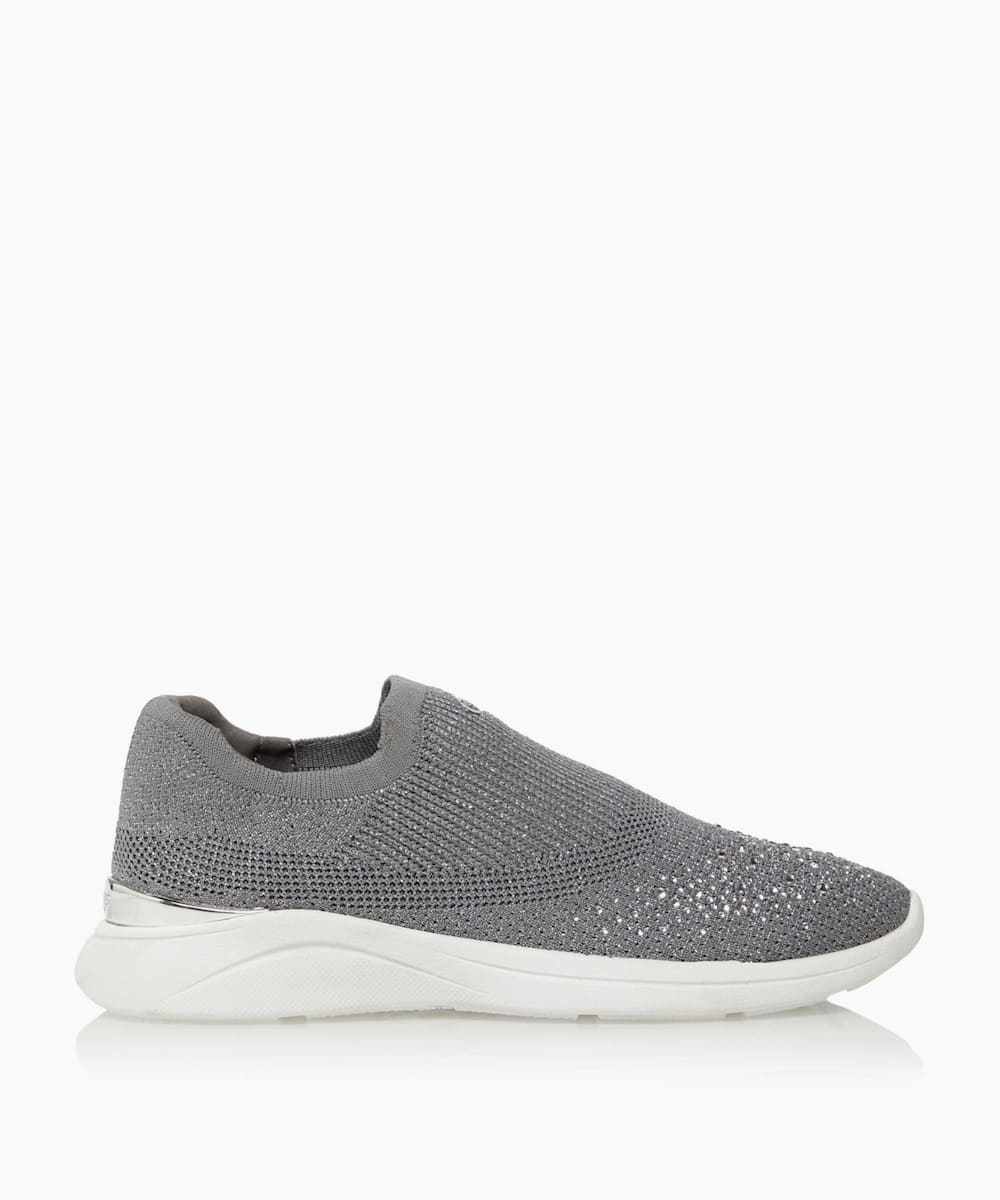 Diamante Woven Slip-On Trainers