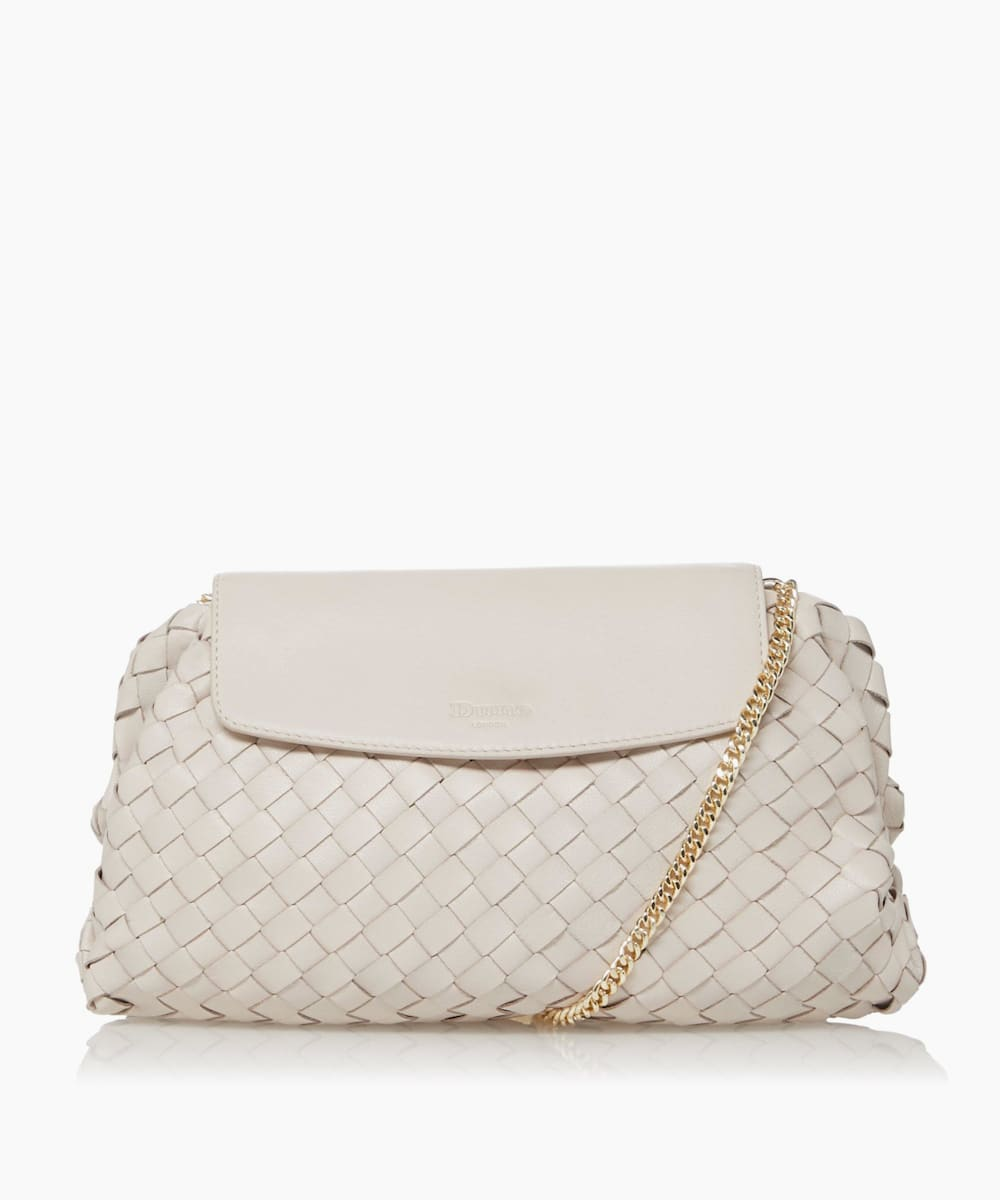 Voluminous Woven Leather Clutch Bag