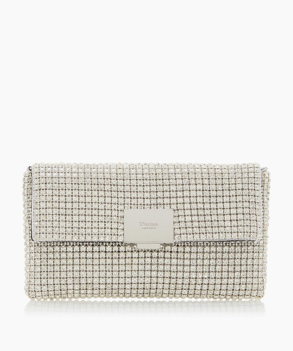 Diamante Embellished Clutch Bag