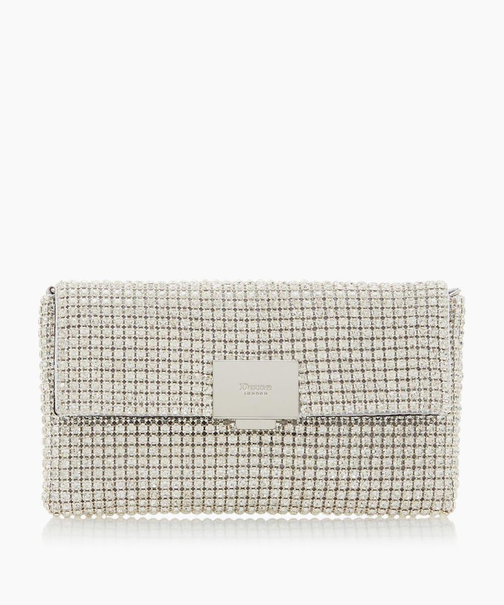 Diamante Embellished Clutch Bag