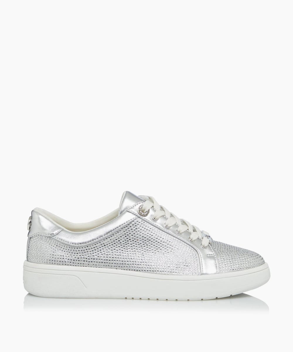 Embellished Mesh Trainers