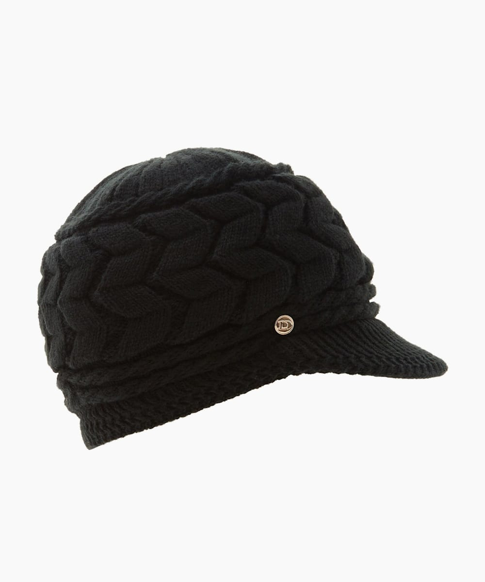 Knitted Flat Peak Hat