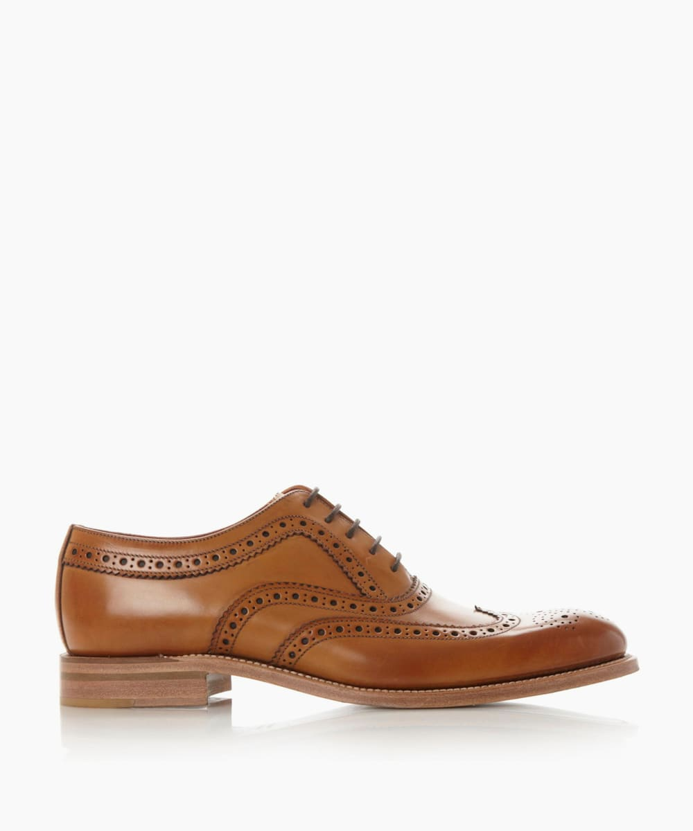 Leather Wingtip Oxford Brogue Shoes