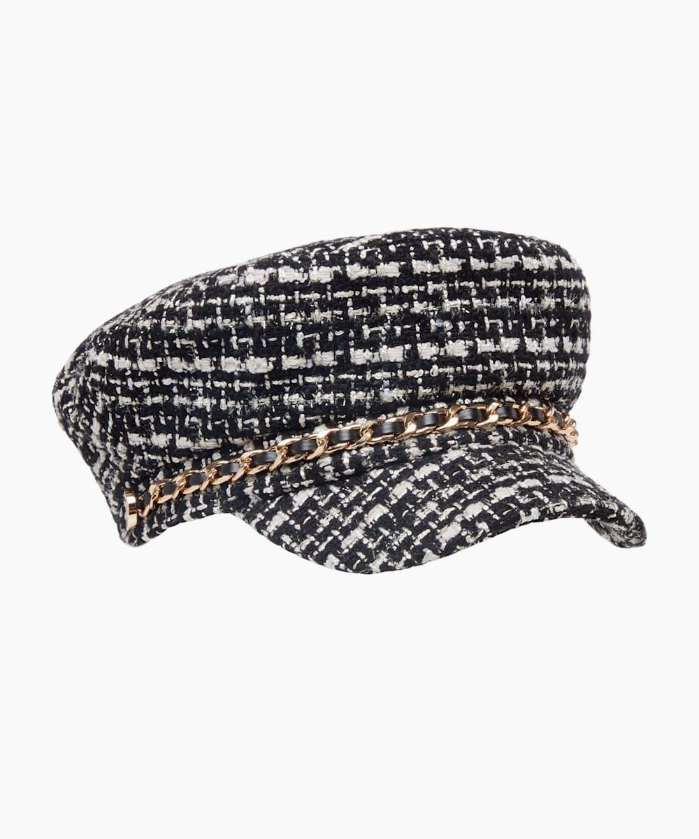 Chain Detail Baker Boy Cap