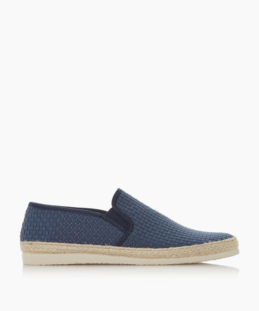 Woven Espadrilles Trim Slip-On Shoes