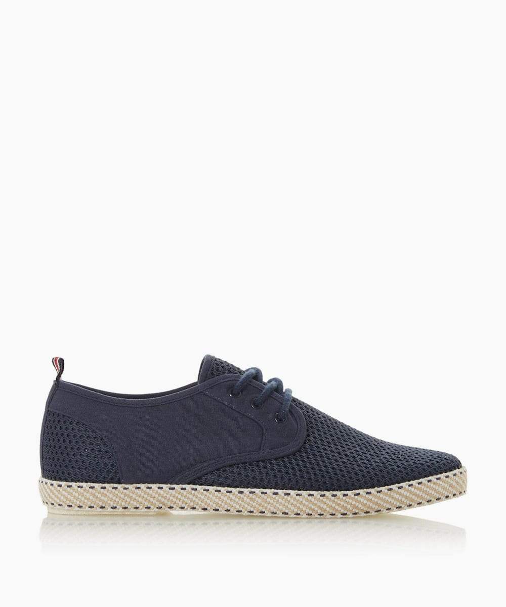 Mesh Lace-Up Espadrilles