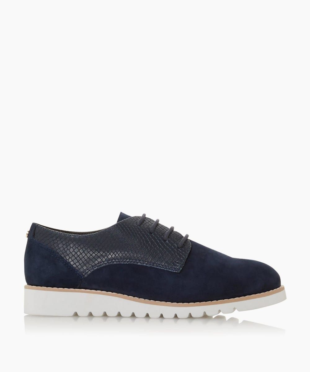 Mixed Upper Lace Up Shoes