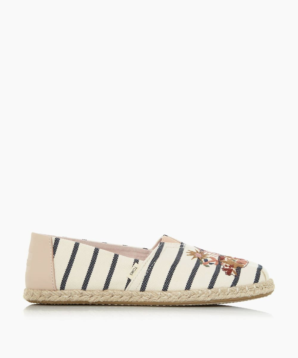 Embroidered Canvas Espadrille