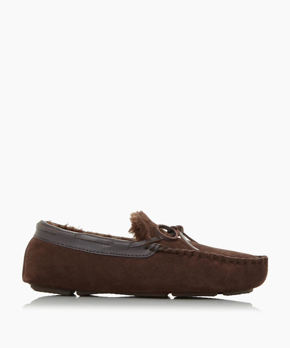 Warm Lined Driver Moccasin Slipper