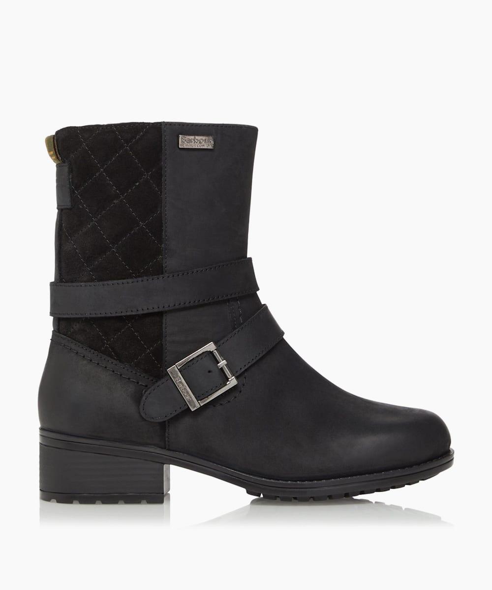 Wrap-Around Buckle Strap Calf Boots