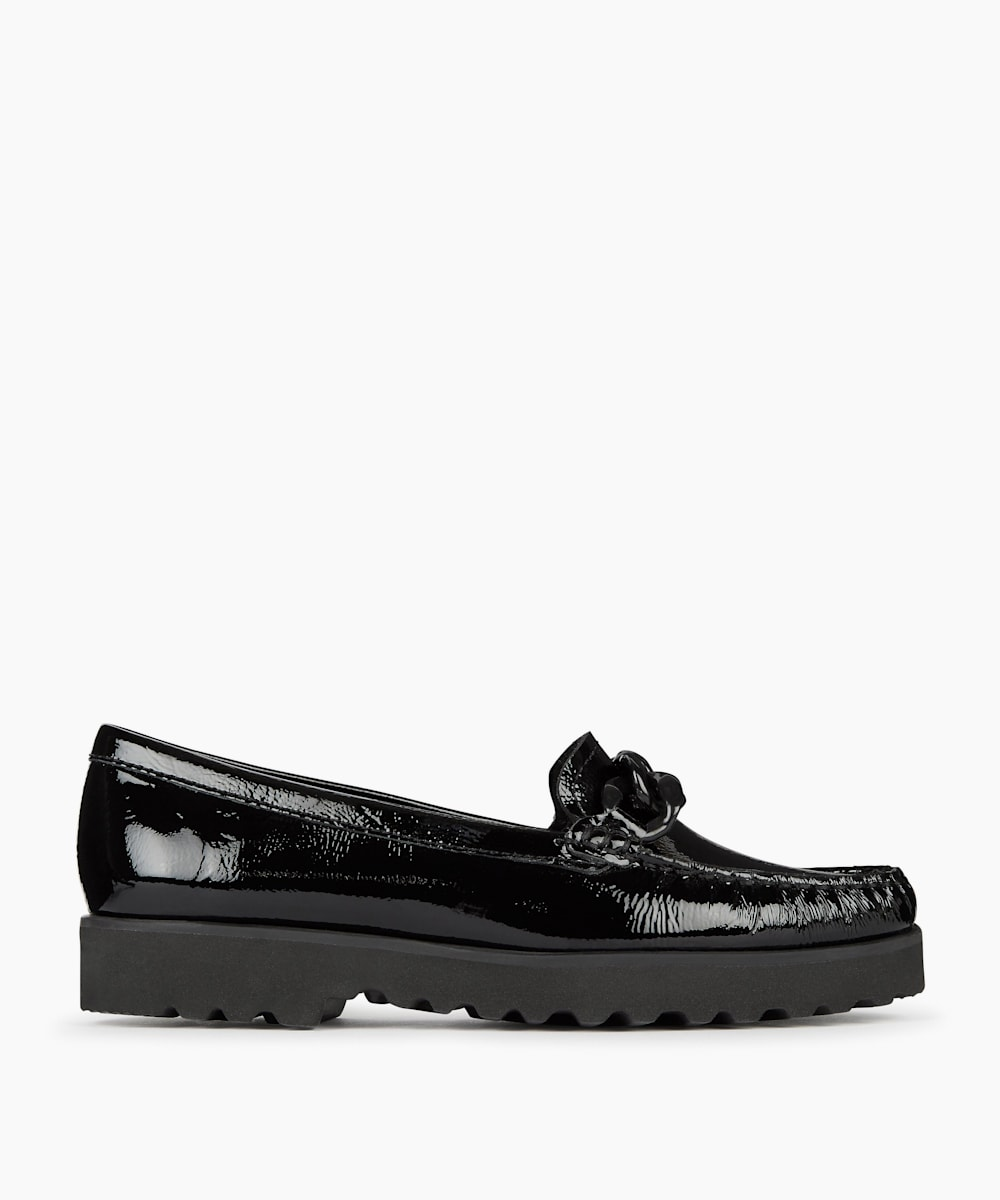 Comfort Chain Detail Loafers