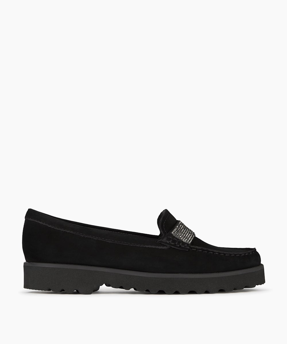 Comfort Embellished Strap Detail Loafers