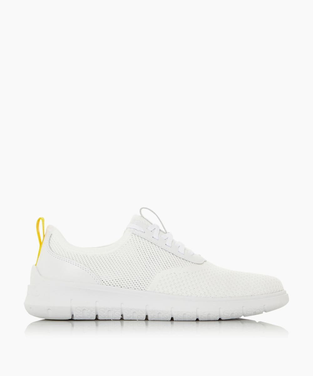 Knit Lace Up Runner Trainers