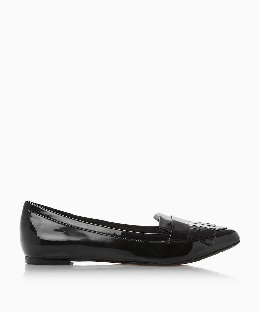 Slipper Cut Fringe Detail Loafer