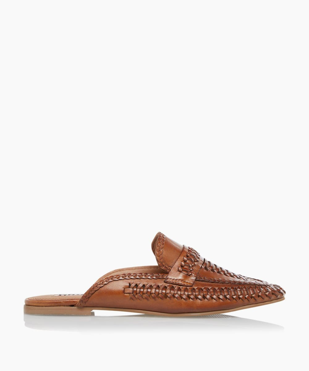 Woven Backless Loafers