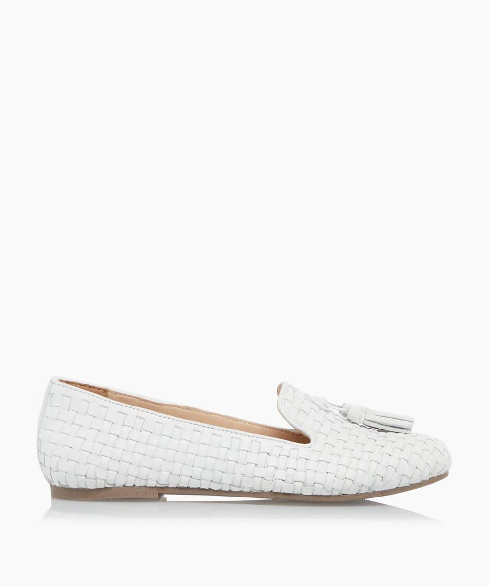 Woven Tassel Loafers