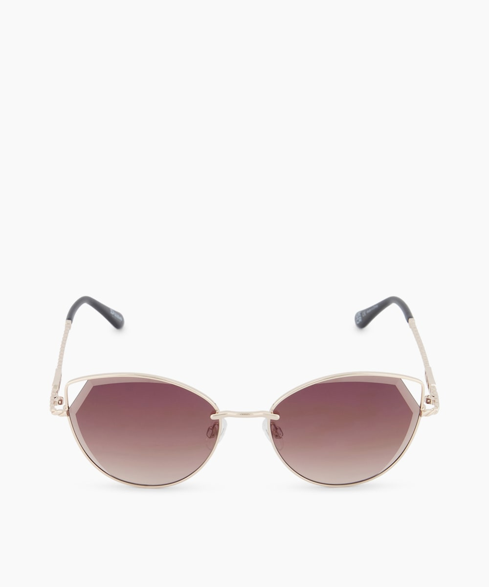 Bevelled Edge Cat Eye Sunglasses