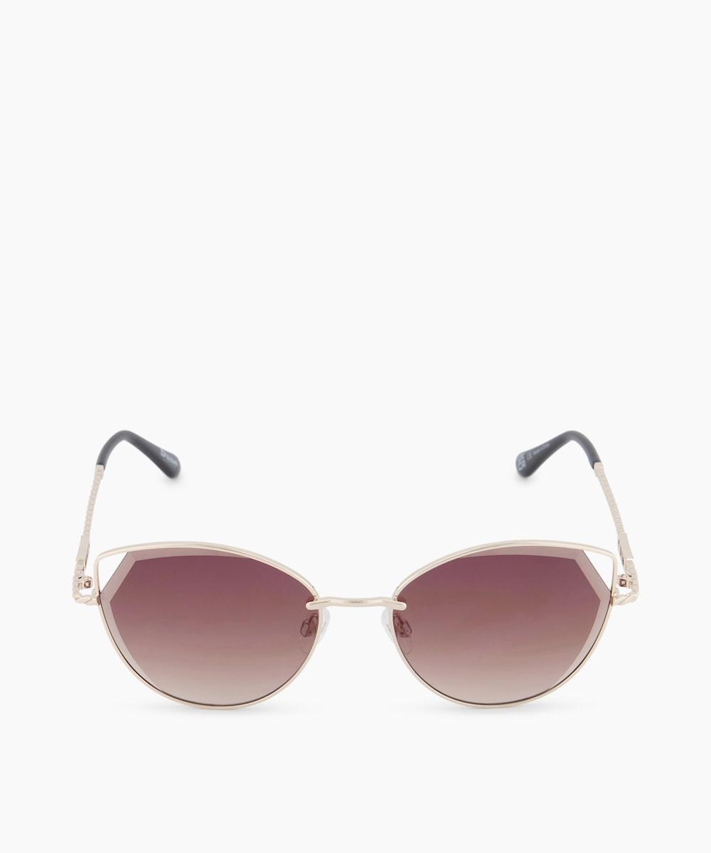 Bevelled Edge Cat Eye Sunglasses