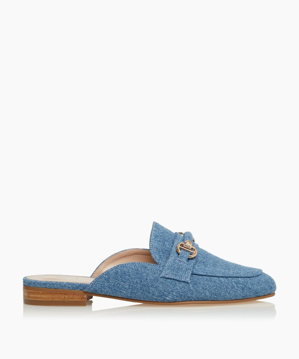 Snaffle Trim Backless Loafers