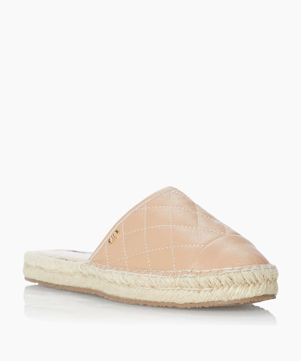 Quilted Espadrille Mule