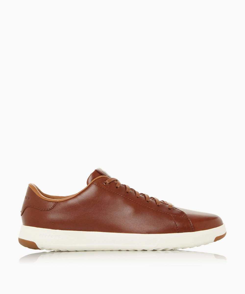 Contrast Lace Up Tennis Trainers
