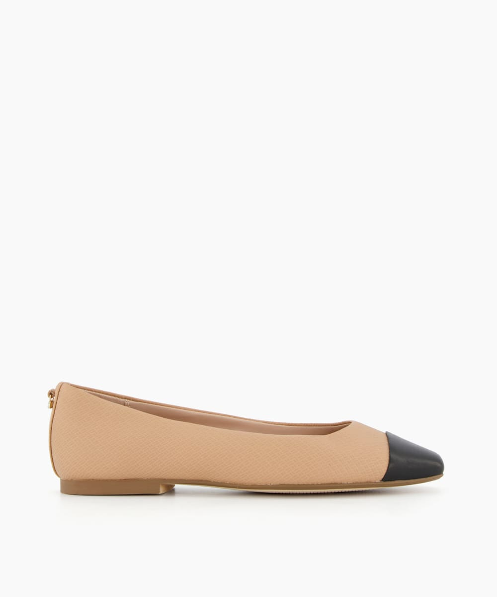 Square Toe Ballet Pumps