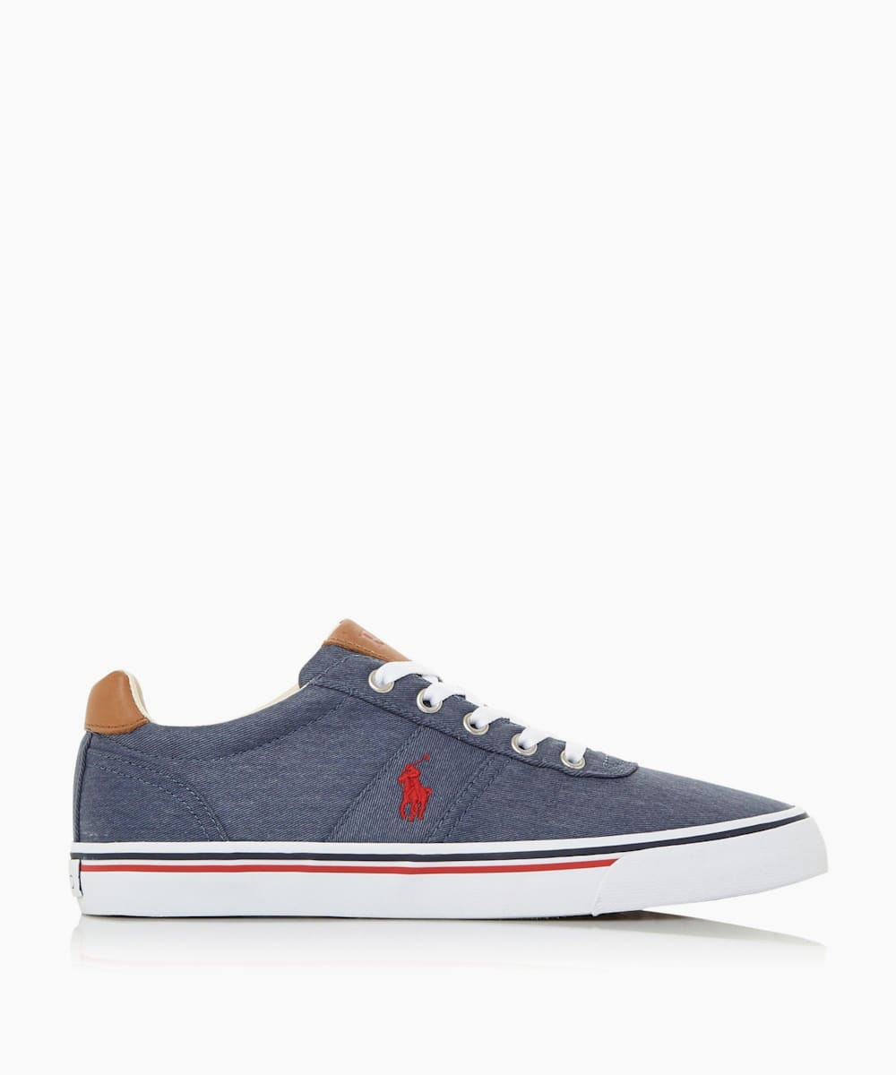 Embroidered Logo Canvas Trainers