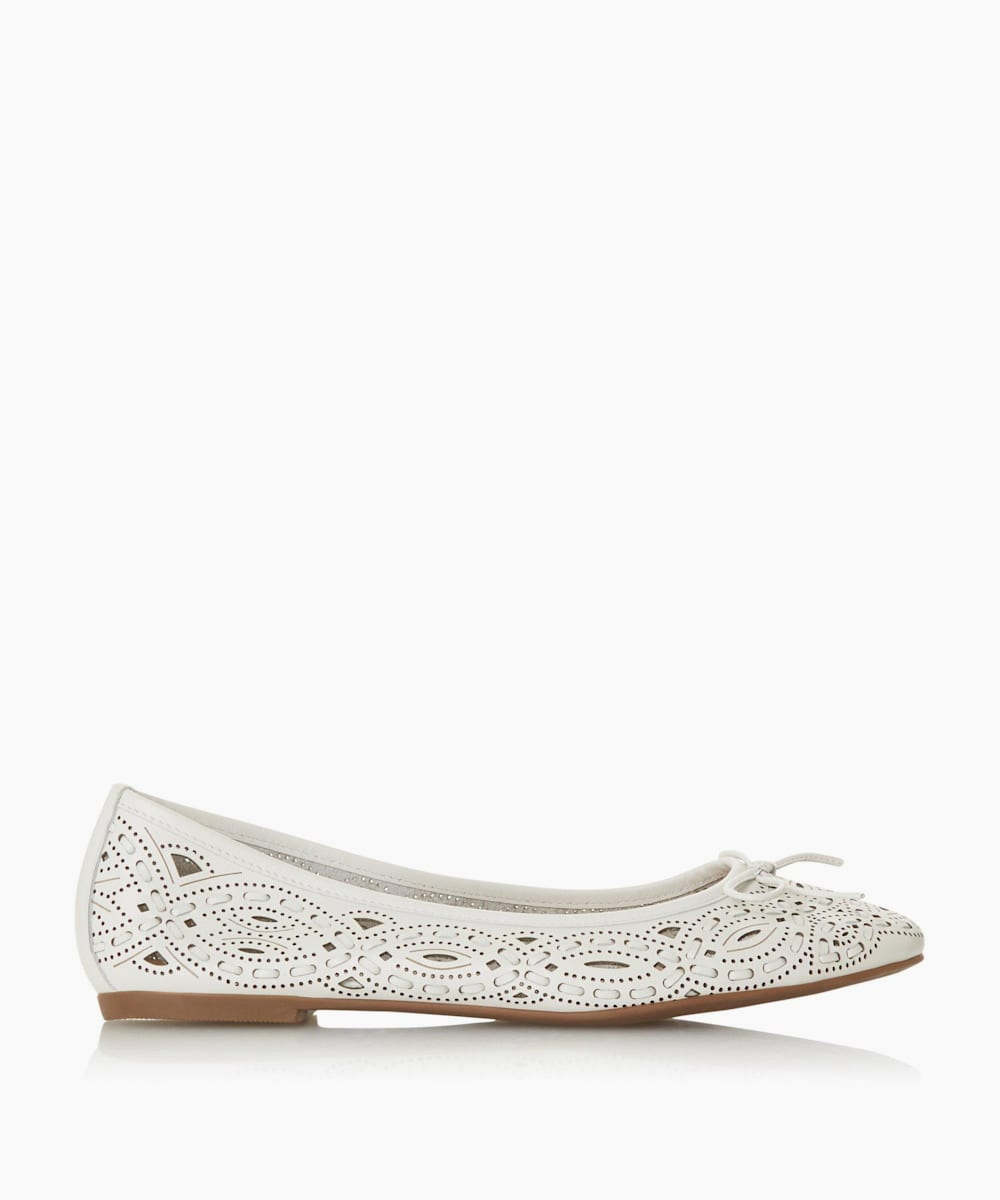 Cutwork Ballet Pump