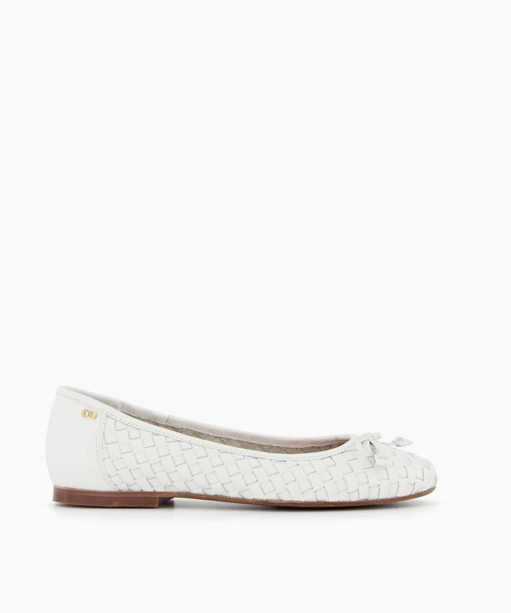 Woven Ballerina Flat Shoes