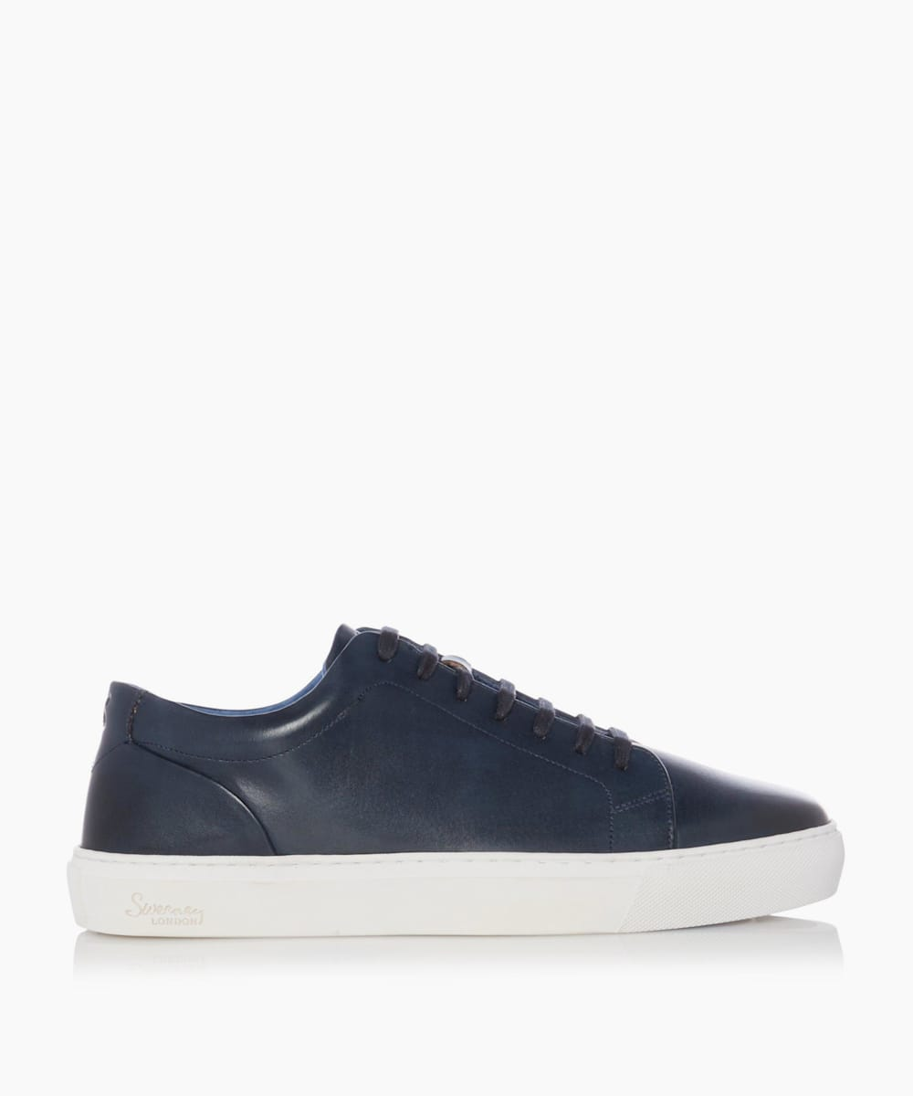 Leather Upper Lace-Up Trainers