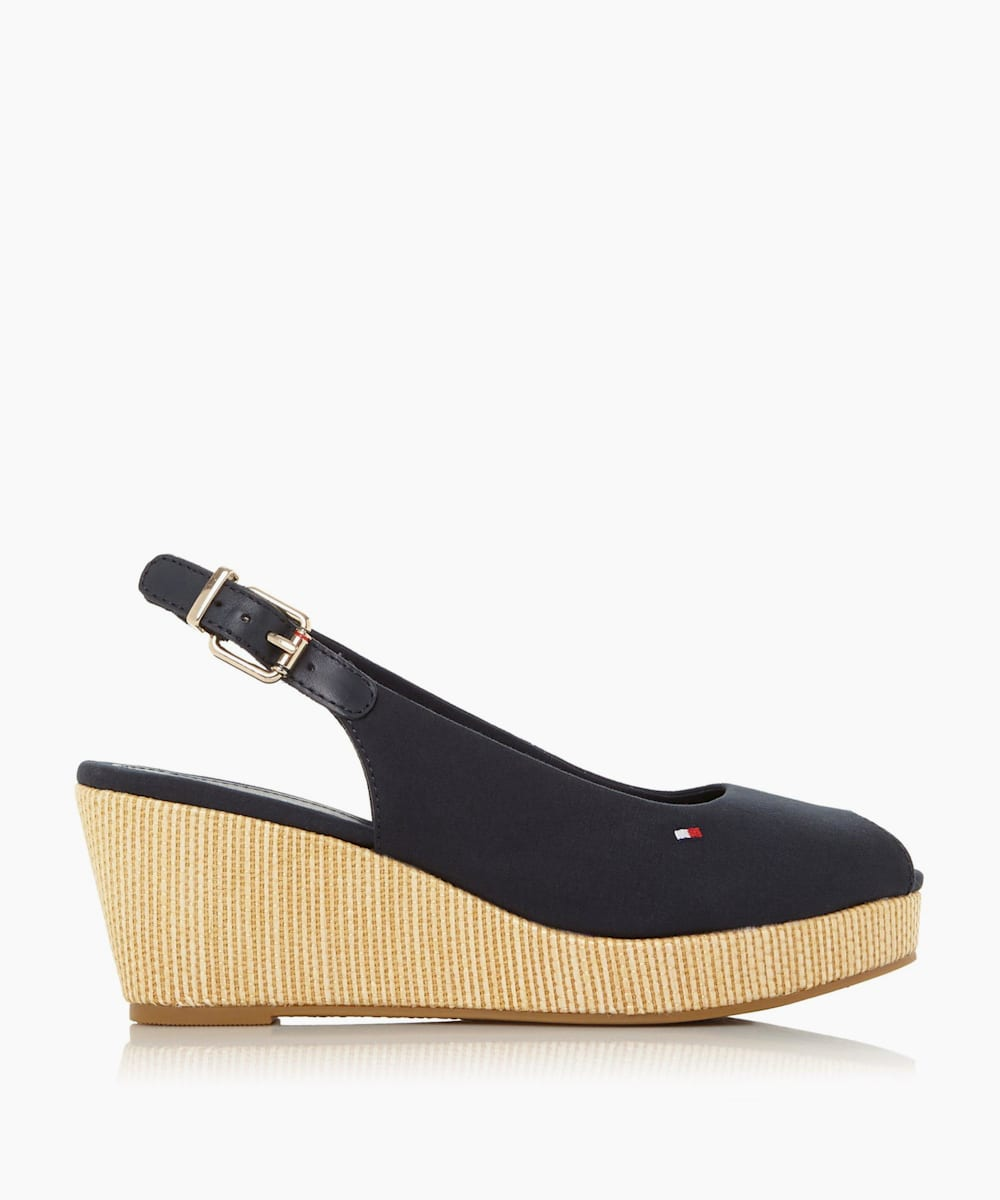 Slingback Mid Wedge Espadrille Sandals