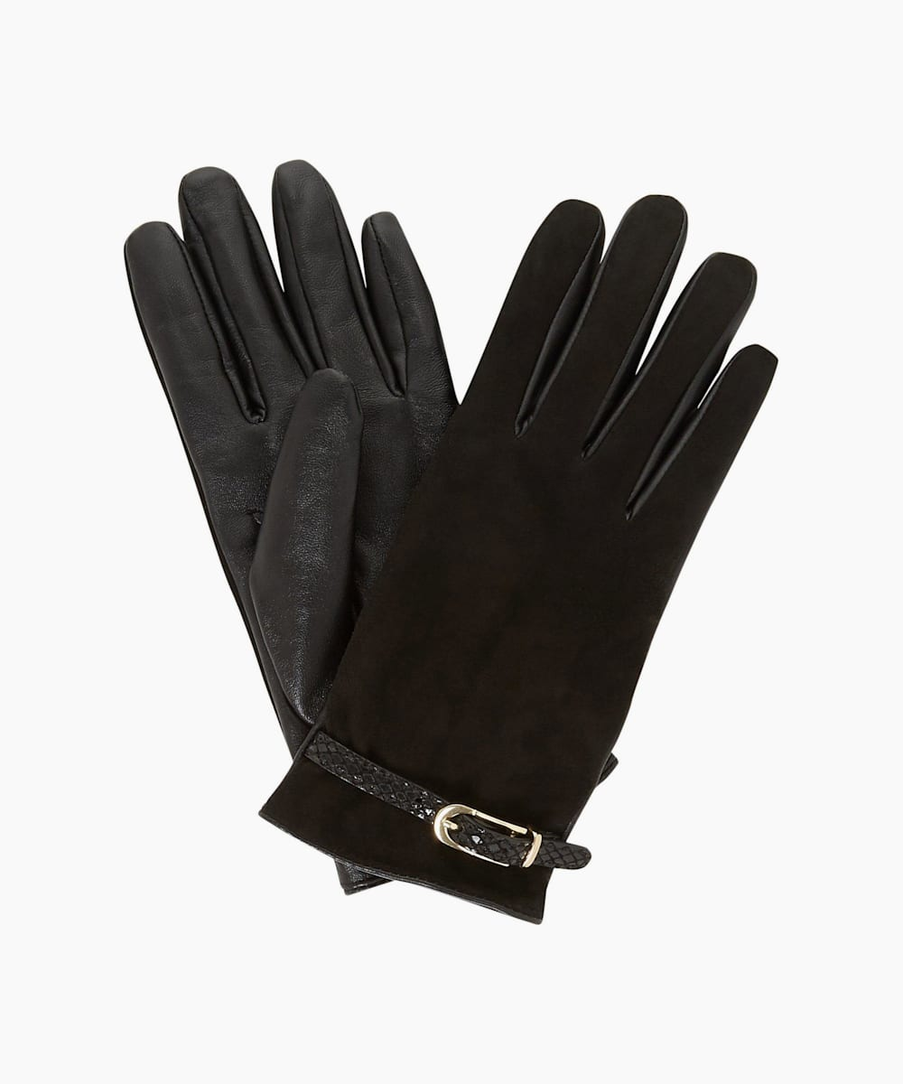 Buckle Detail Gloves