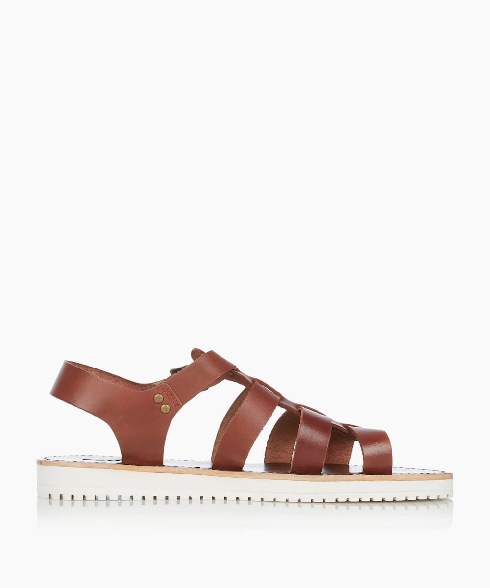 Leather Smart Strappy Sandals