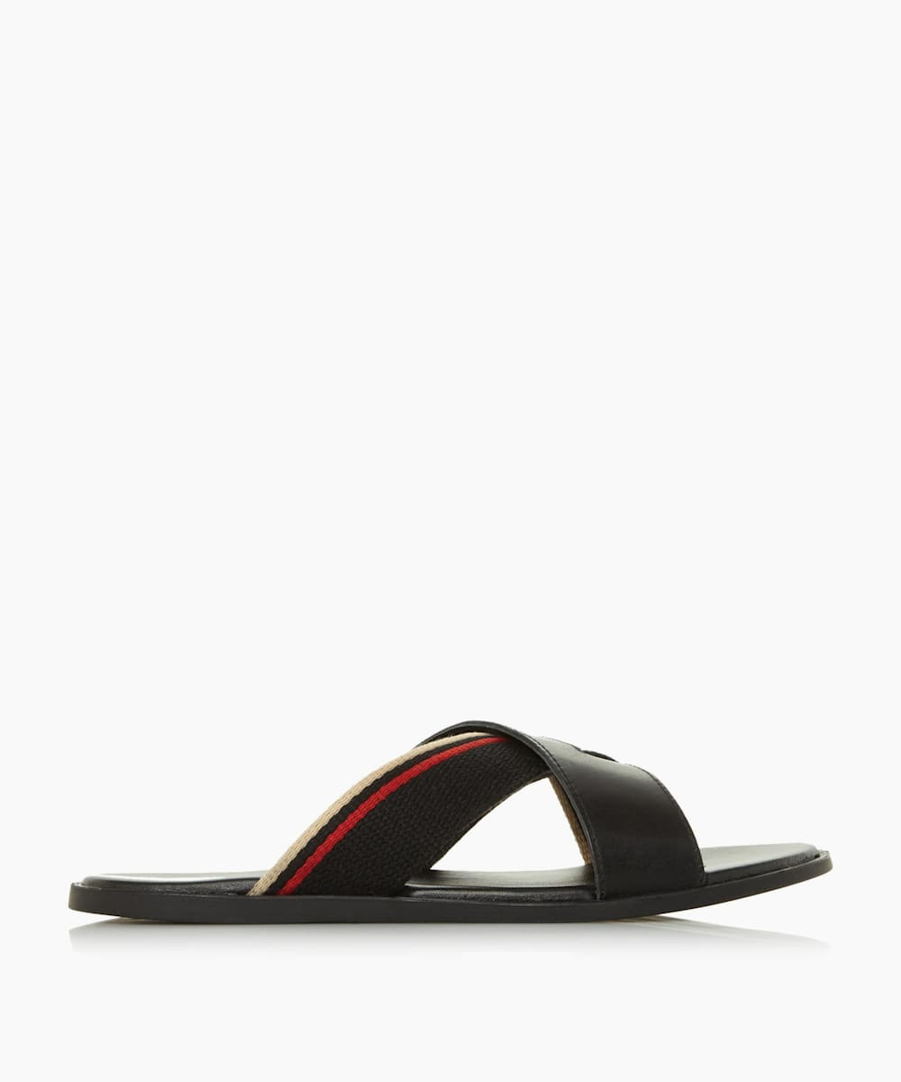 Contrasting Cross Strap Sandals