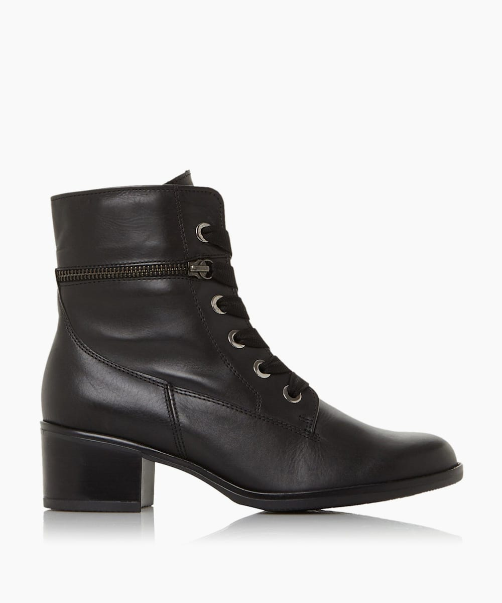 Zip Detail Lace-Up Boots