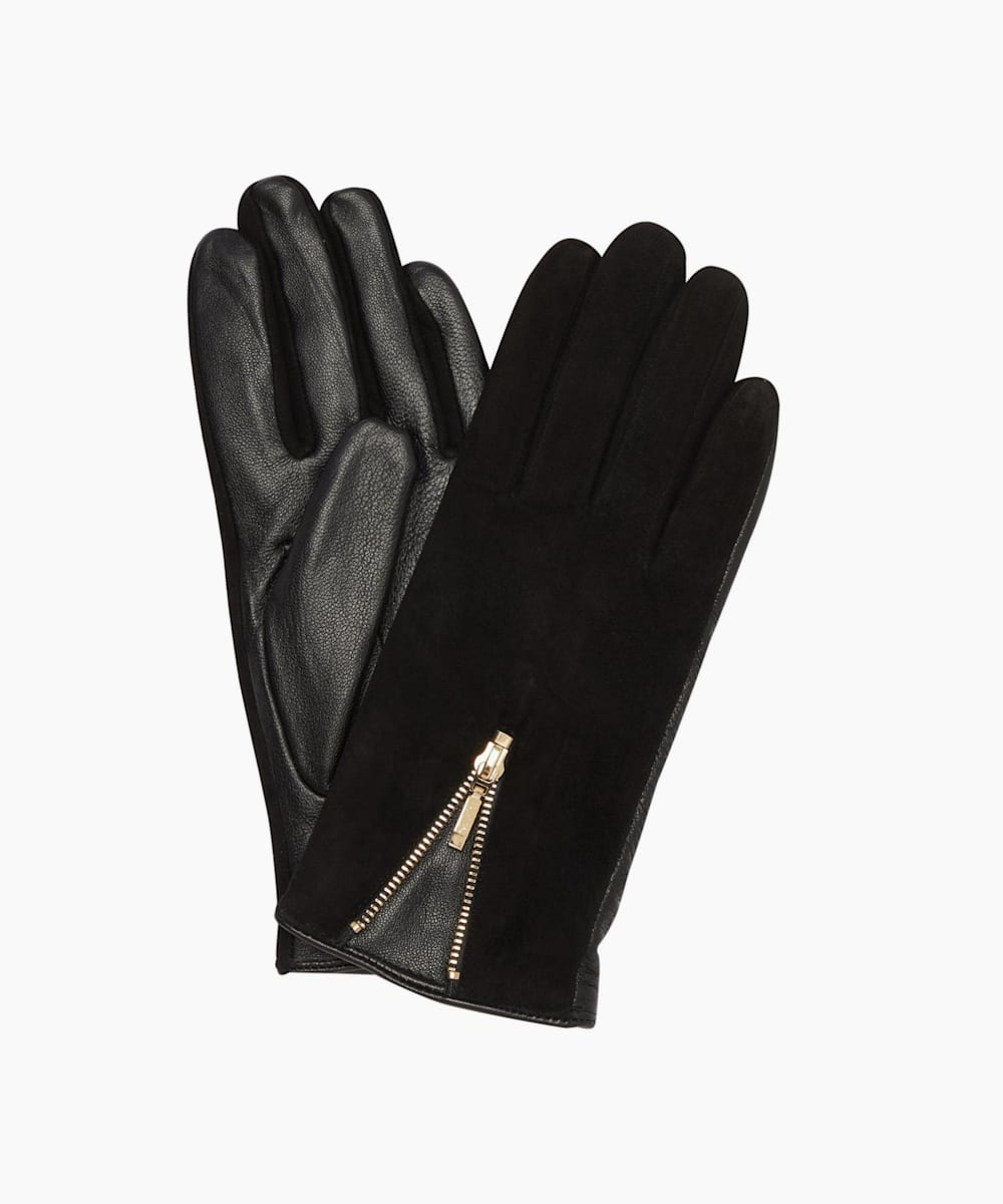 Zip Detail Gloves
