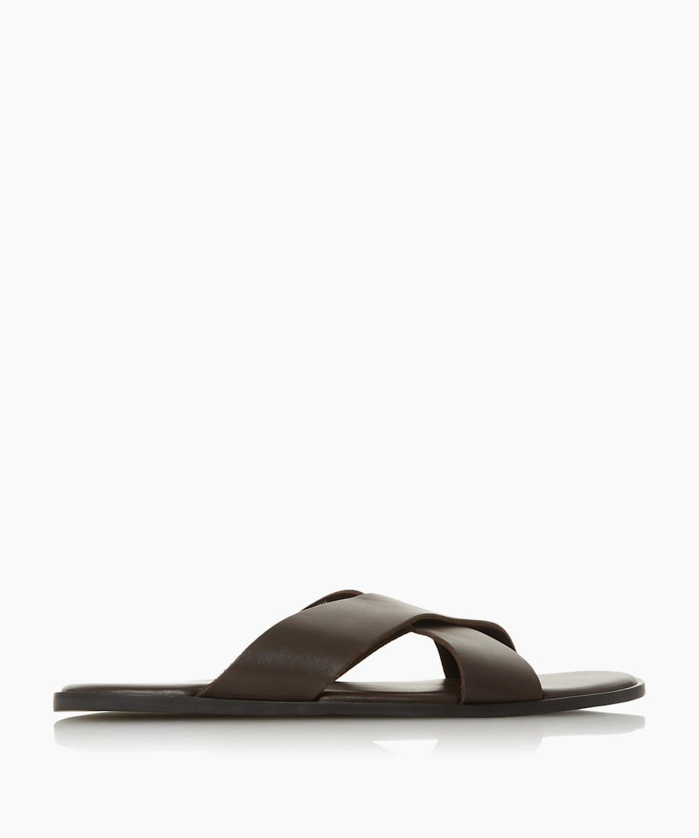 Leather Cross Over Flip Flop