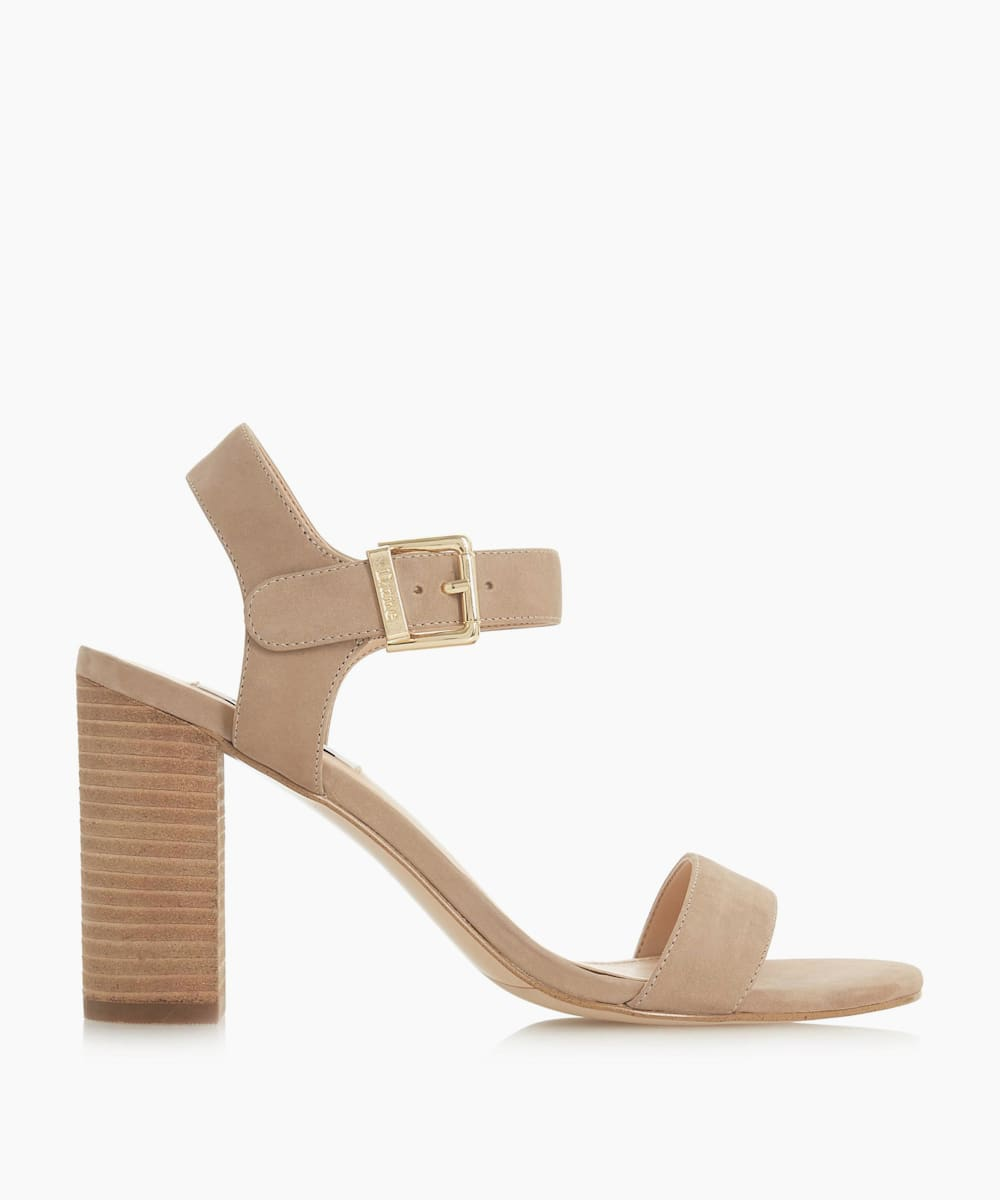 Two Part Stacked Heel Sandals