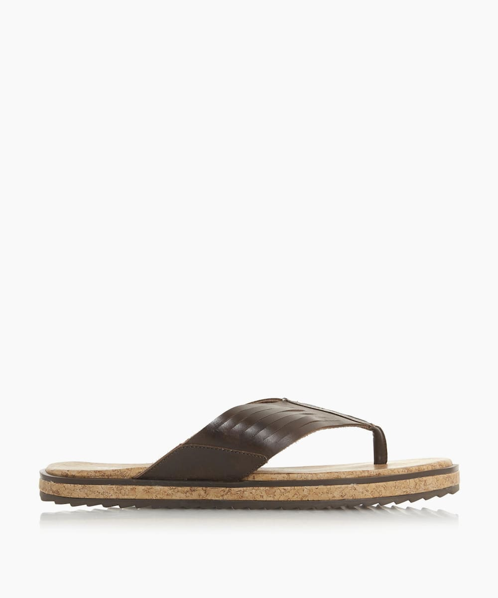 Wide Strap Toe Post Sandals