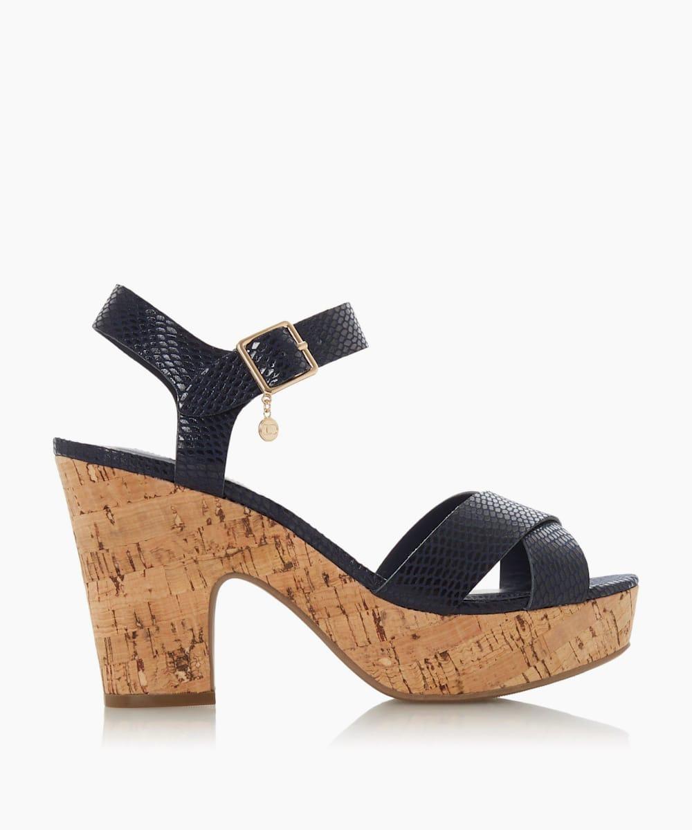 Block Heel Two Part Sandals
