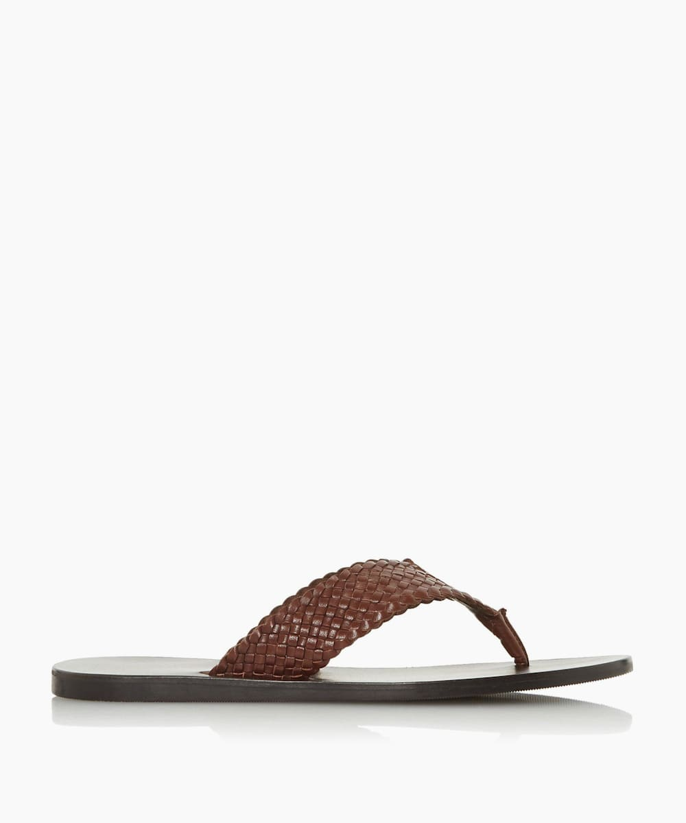 Woven Toe-Post Sandals