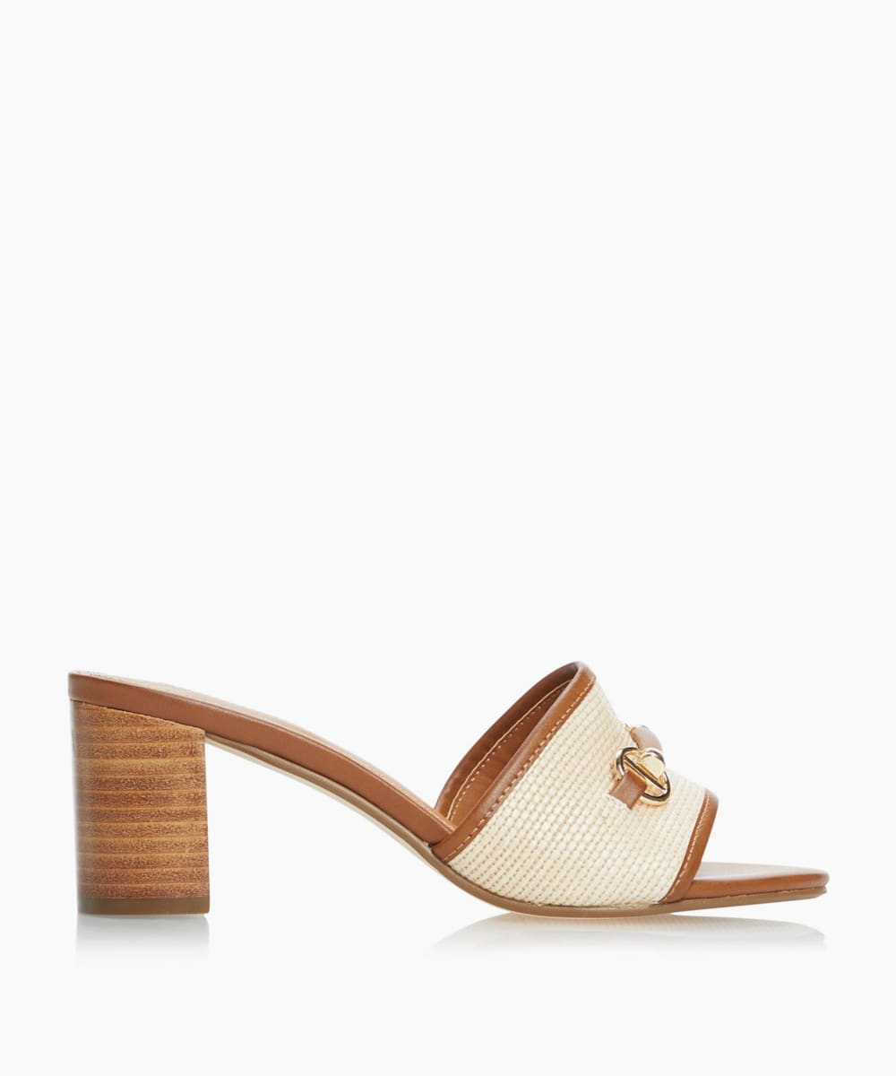 Snaffle Trim Heeled Mules