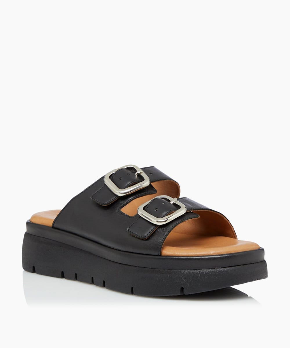 Double Buckle Strap Sandals