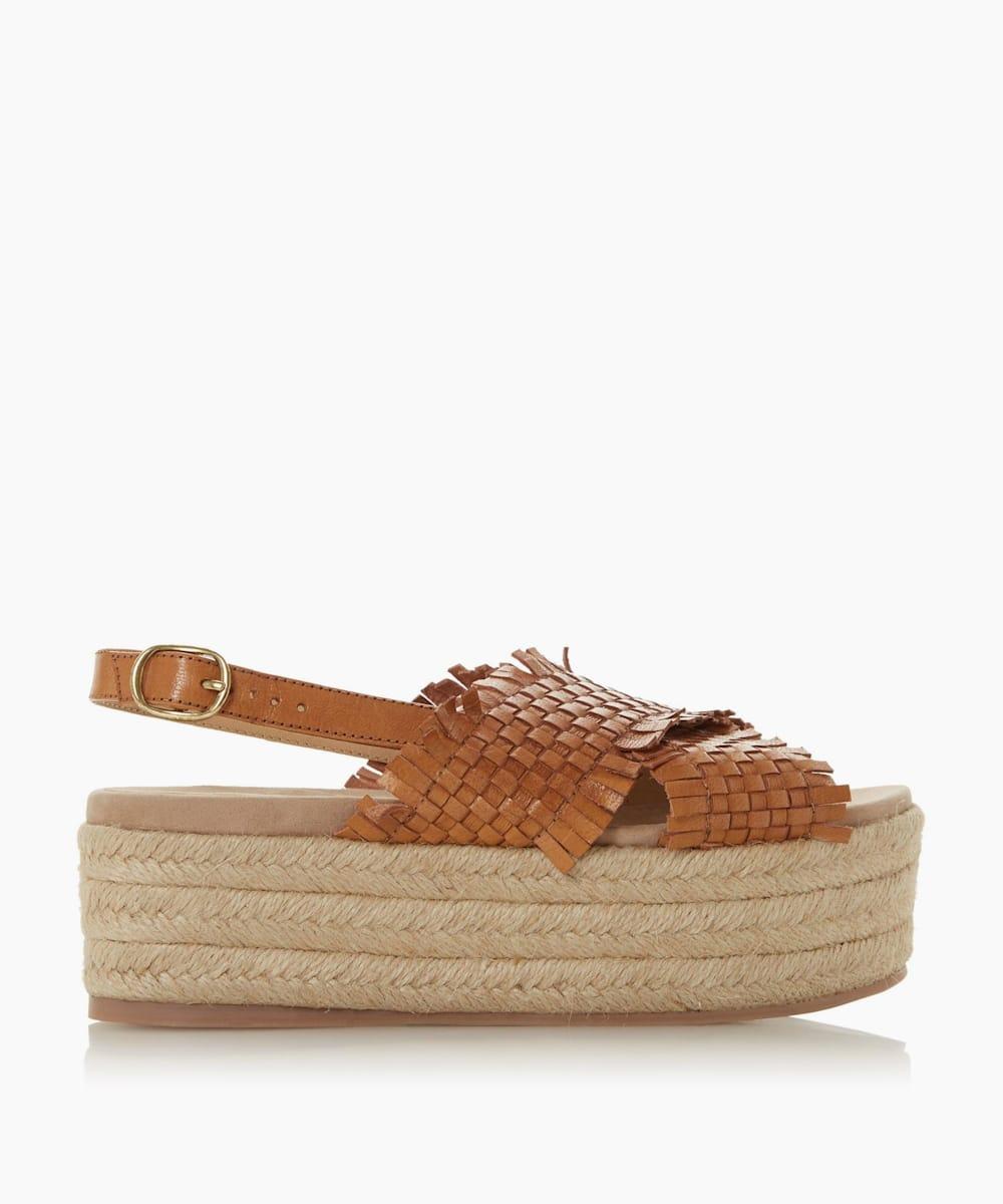Woven Flatform Espadrille Sandals