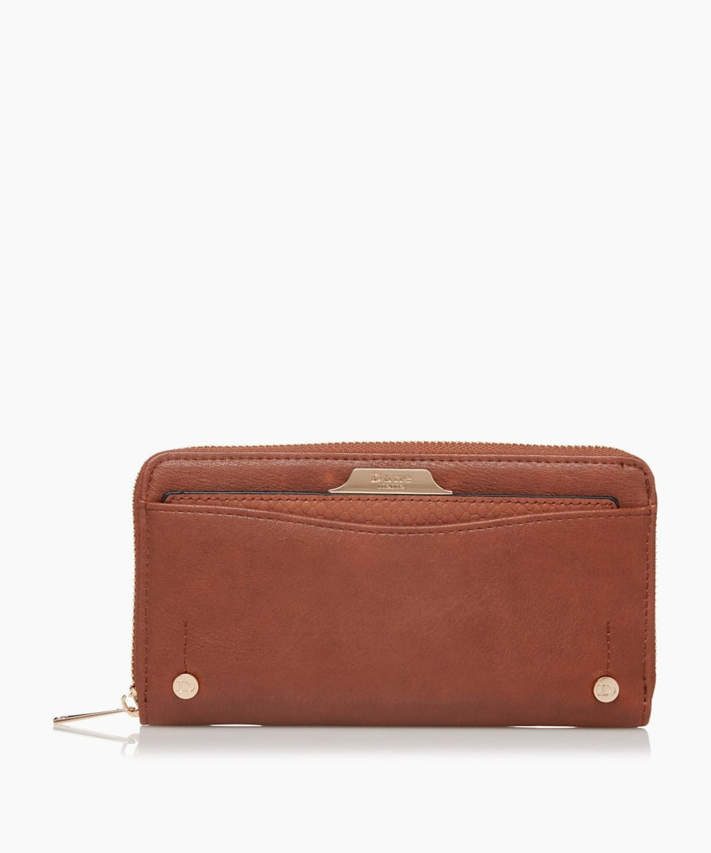 Zip Around Removable Card Slot Purse
