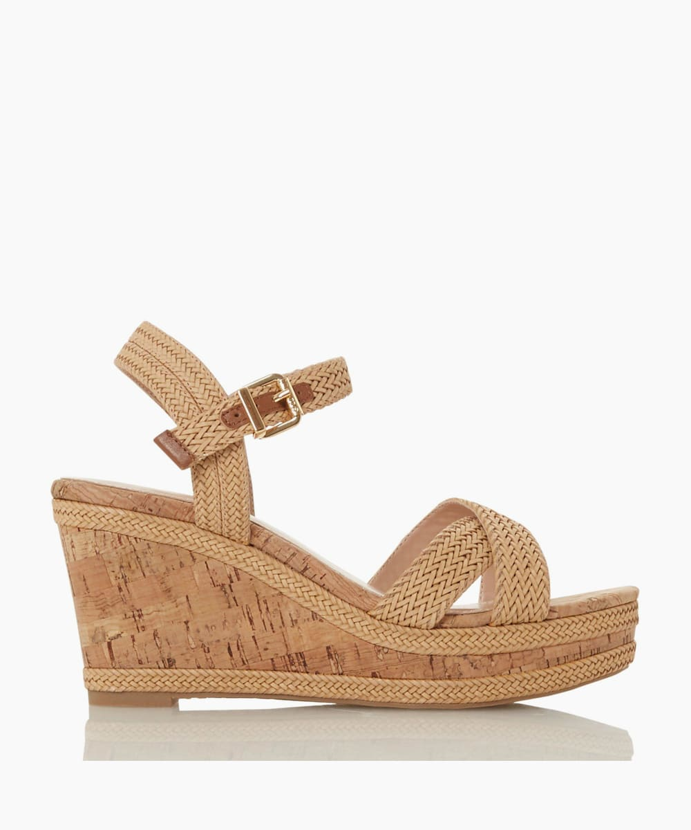 Braided Upper High Wedge Heel Sandals